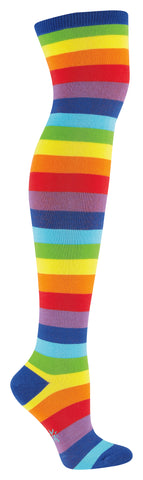 Sock It To Me Women's Over the Knee Socks - Super Juicy Striped