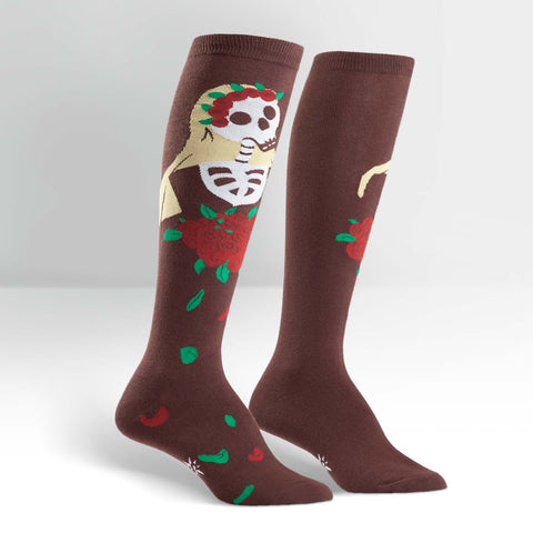 Sock It To Me Women's Knee High Socks - Dia de los Muertos