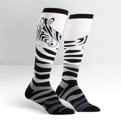 Sock It To Me Women's Knee High Socks - Zebra