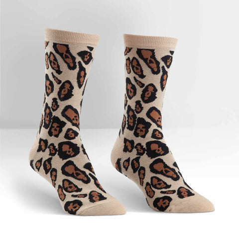 Sock It To Me Women's Crew Socks - Leopard