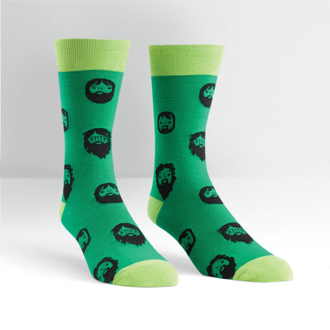 Sock It To Me Men's Crew Socks - Beards!