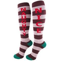Gumball Poodle Unisex Knee High Socks - Naughty/Nice