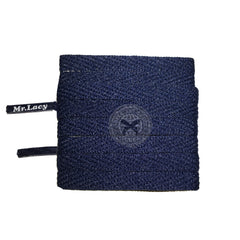 Mr Lacy Skinnies - Navy Shoelaces