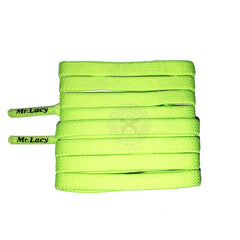 Mr Lacy Flexies - Neon Lime Yellow Flexible Shoelaces - 110cm Length