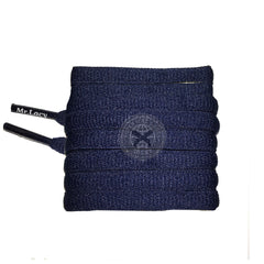 Mr Lacy Slimmies - Navy Shoelaces