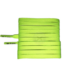 Mr Lacy Goalies - Neon Lime Yellow Football Shoelaces