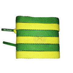 Mr Lacy Clubbies - Kelly Green & Yellow Two Tone Shoelaces