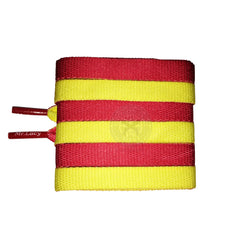 Mr Lacy Clubbies Yellow & Red Two Tone Shoelaces