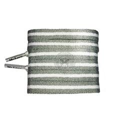 Mr Lacy Stripies - Grey & White Striped Shoelaces