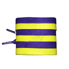Mr Lacy Clubbies - Violet & Yellow Two Tone Shoelaces