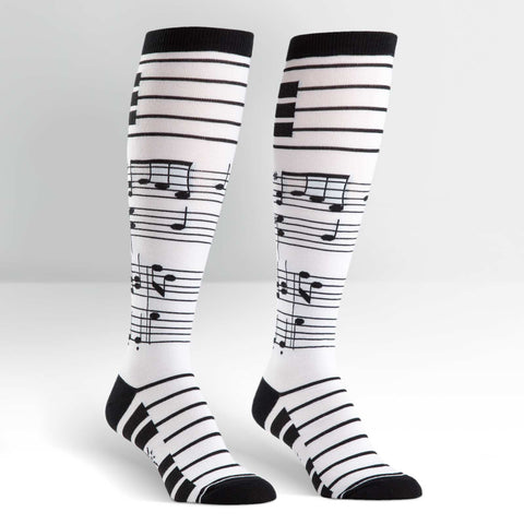 Sock It To Me Women's Funky Knee High Socks - Footnotes