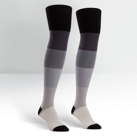 Sock It To Me Women's Over The Knee Socks - Dark & Stormy