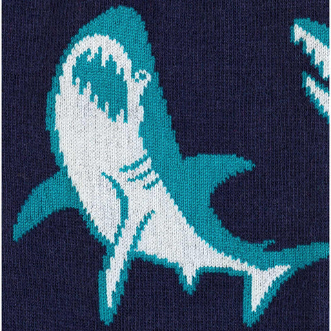 Sock It To Me Men's Crew Socks - Shark Attack