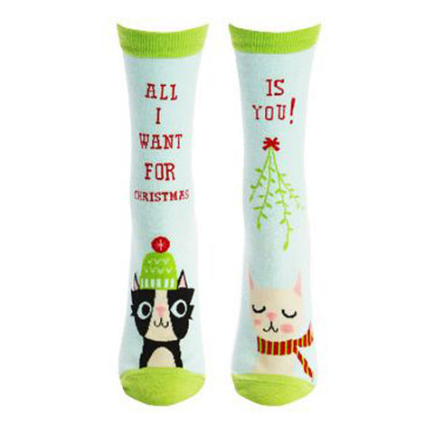 Sock It To Me Women's Crew Socks - All I Want For X-mas