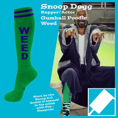 Gumball Poodle Unisex Knee High Socks - Weed