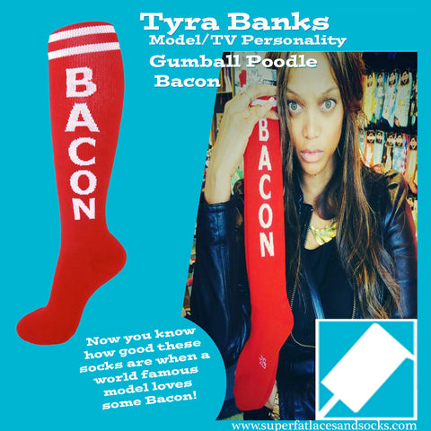 Gumball Poodle Unisex Knee High Socks - Bacon