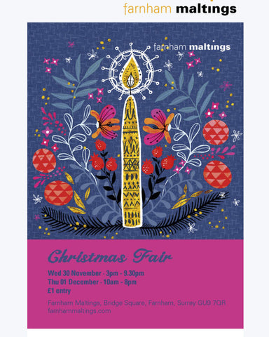 We'll Be at The Maltings' Christmas Fair