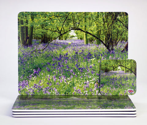 'Bluebell Dream' placemats & coasters melamine