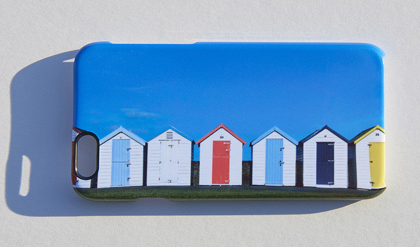 'Dandy Beach Huts' phone cover
