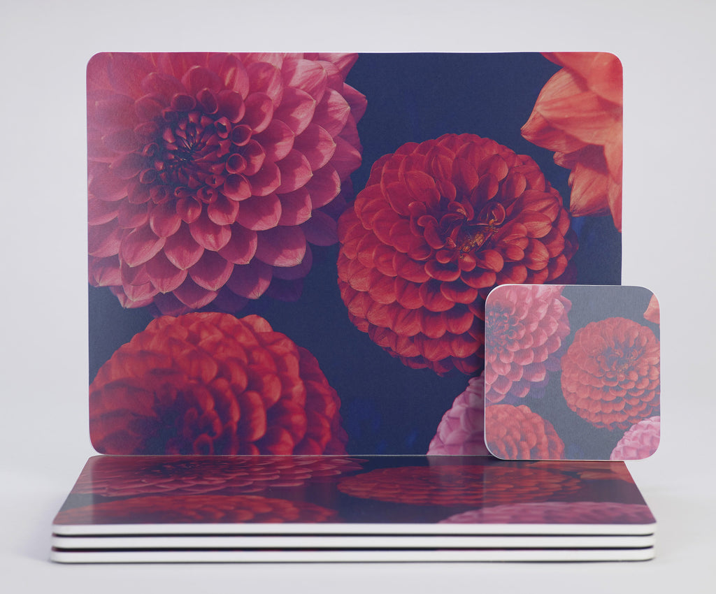 'Dahlia Dream' placemats & coasters