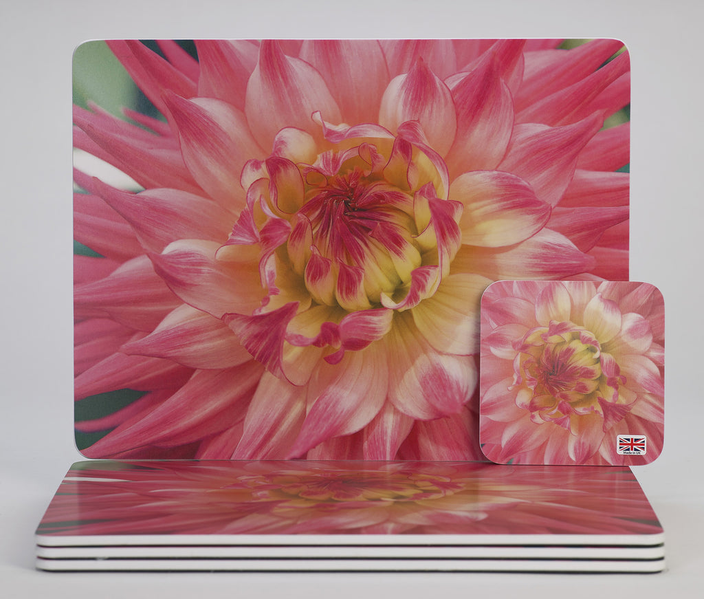 'Dahlia Sunrise' placemats & coasters