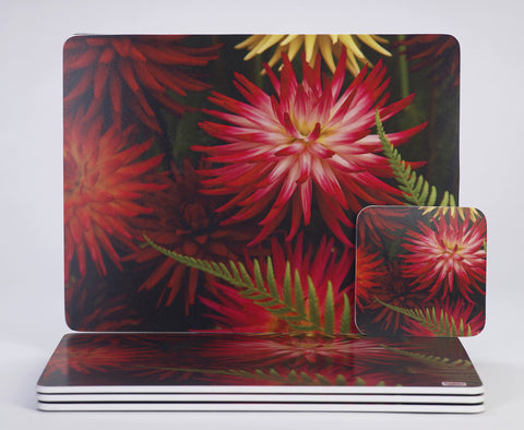 'Dahlia Urchin' placemats & coasters