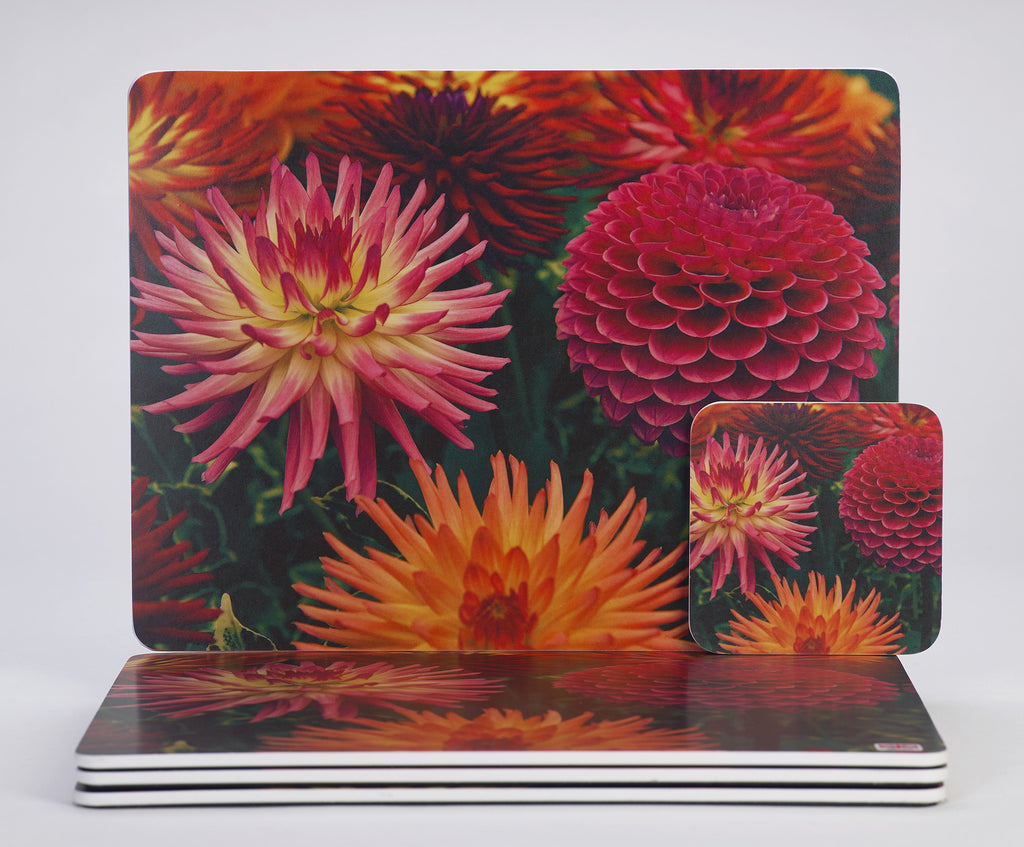 'Dahlia Delight' Placemats and Coasters