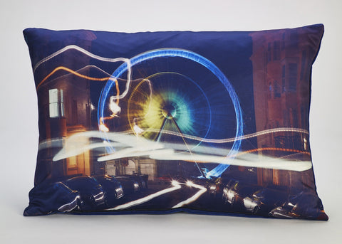 'Electric Light & Magic' cushion