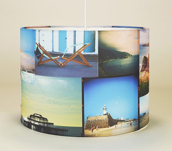 Seaside Scrapbook Lampshade