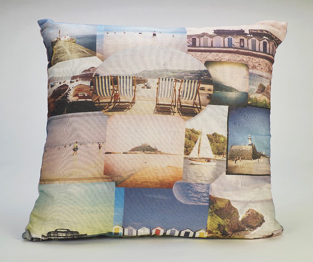 'Seaside Scrapbook' cushion