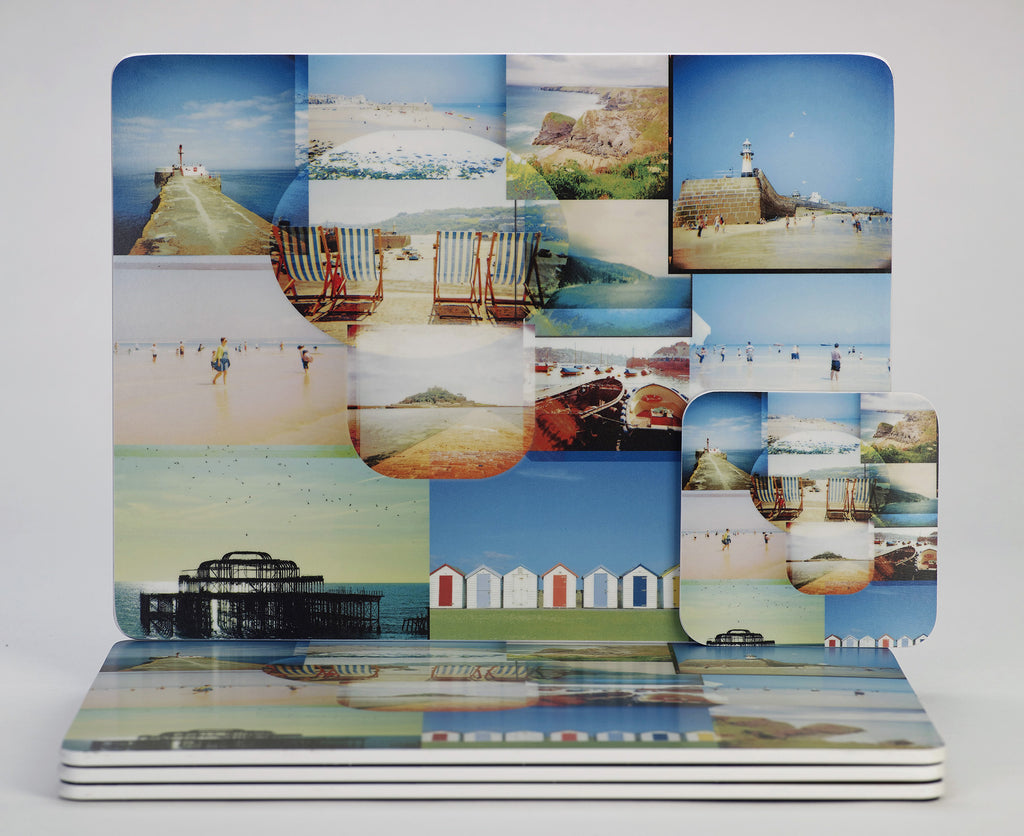 'Seaside Scrapbook' placemats & coasters