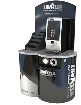 Lavazza Branded Coffee Tower with a Bravilor Bonamat Esprecious Bean To Cup Machine