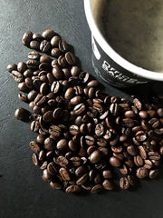 Office Barista Take Away Cup with coffee beans