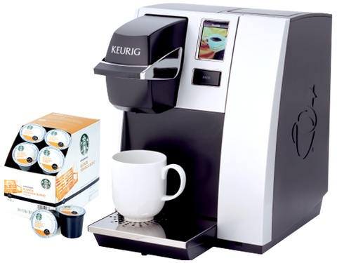 Keurig K150 Office Coffee Machine with Starbucks K Cups