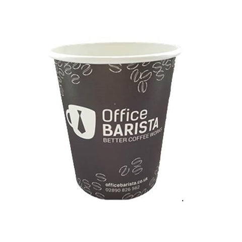 Office Barista 8oz Paper Cup, disposable, hygienic & stylish UK