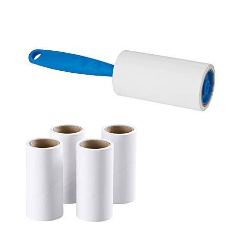 1Pcs Lint Roller with 4 Replacement Roller Reusable Dust Roller Multifunctional Dust Picker for Clothes Sticky Lint Remover