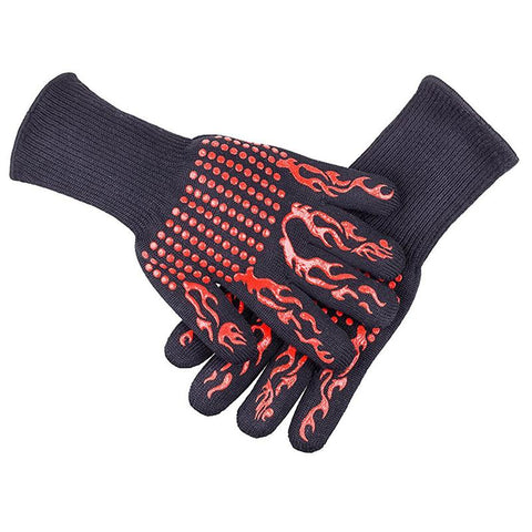2pcs BBQ Grill Oven Gloves Heat Resistant Premium Insulated Silicone Lined Aramid Fiber Gloves for Baking Oven Mitts Long Cuff