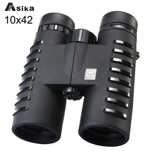 10x42 Camping Hunting Scopes Asika Binoculars with Neck Strap Carry Bag Free Shipping Telescopes Bak4 Prism Optics Binoculares