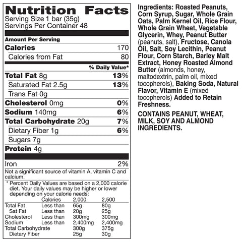 Nature Valley Peanut Sød 'N Salt Nut Bars 1,2 oz, 48-count