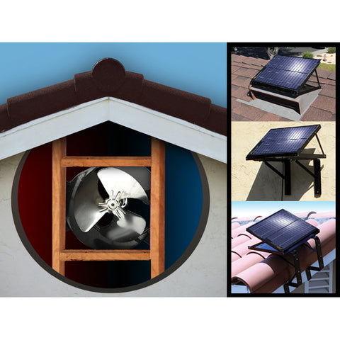 Solar Attic Gable Fan, ventilerer 2.400 sq ft