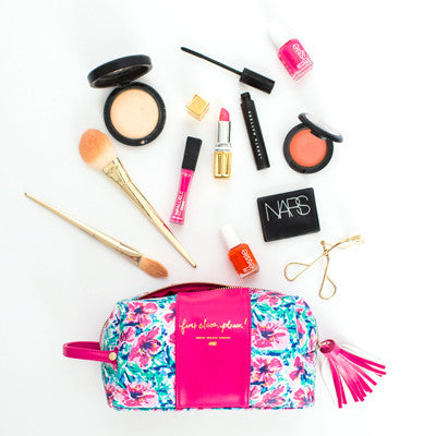 First Class Floral Makeup Bag