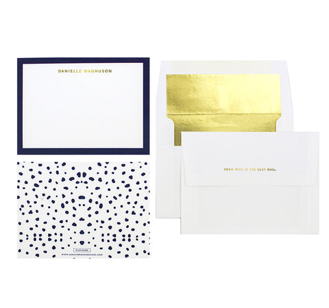 Navy Dot - Personalized Stationery-Stationery-Ashley Brooke Designs