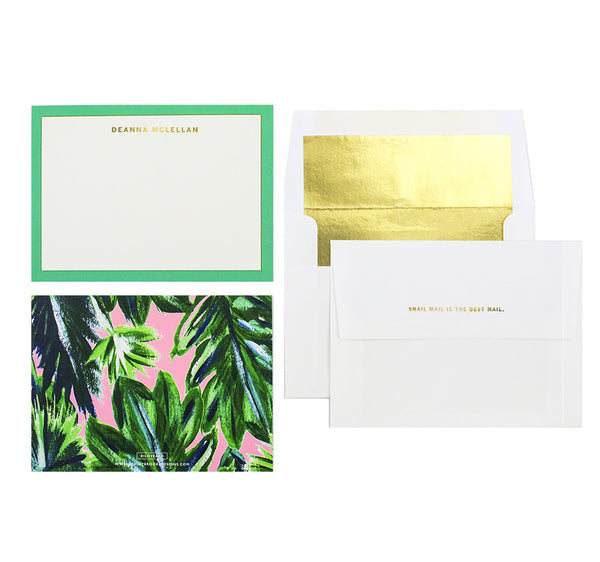 Palm Leaf - Personalized Stationery-Stationery-Ashley Brooke Designs