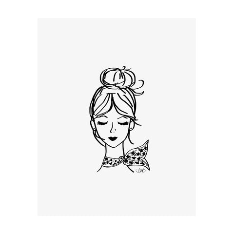 French Girl Art Print-Apparel-Ashley Brooke Designs