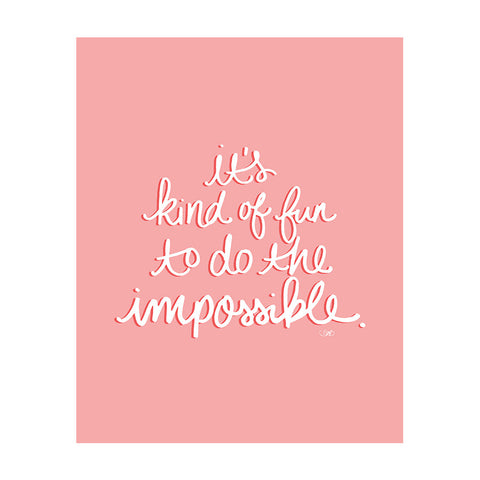 Do the Impossible Art Print-Apparel-Ashley Brooke Designs