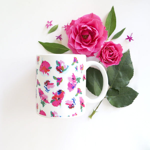 Floral Coffee Mug-Mugs-Ashley Brooke Designs