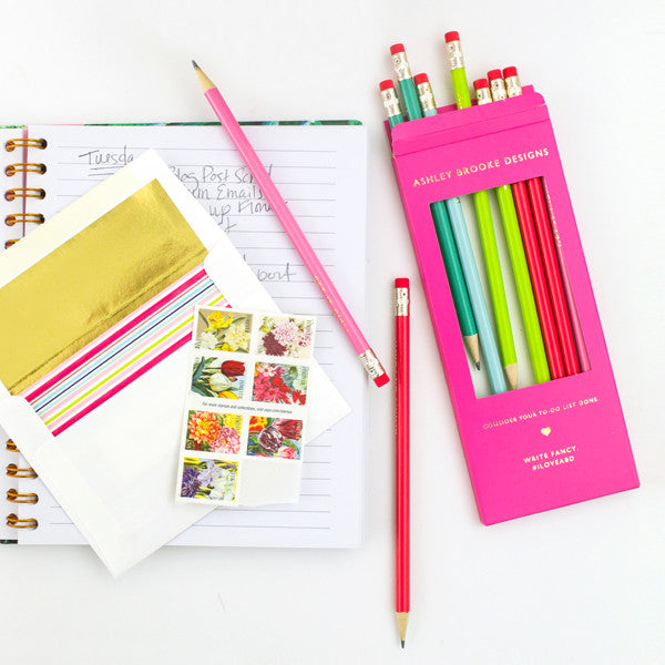 Fancy Pencil Set-Notebooks-Ashley Brooke Designs