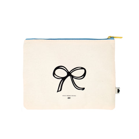All Tied Up Zip Pouch-Cosmetic Zip Pouch-Ashley Brooke Designs
