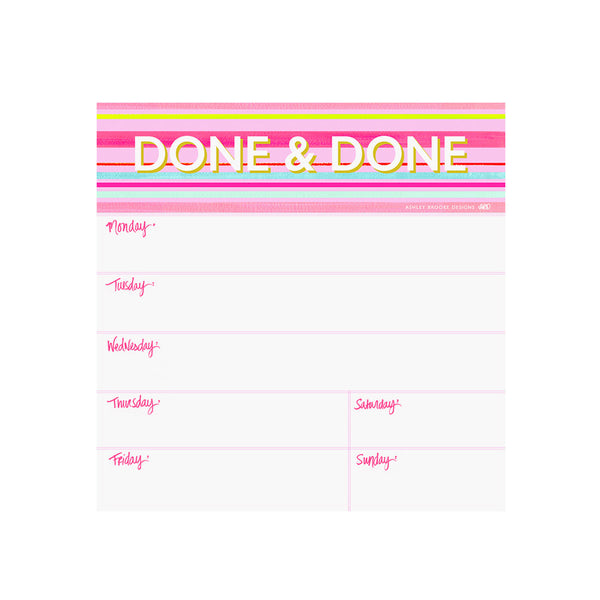 Done & Done Notepad