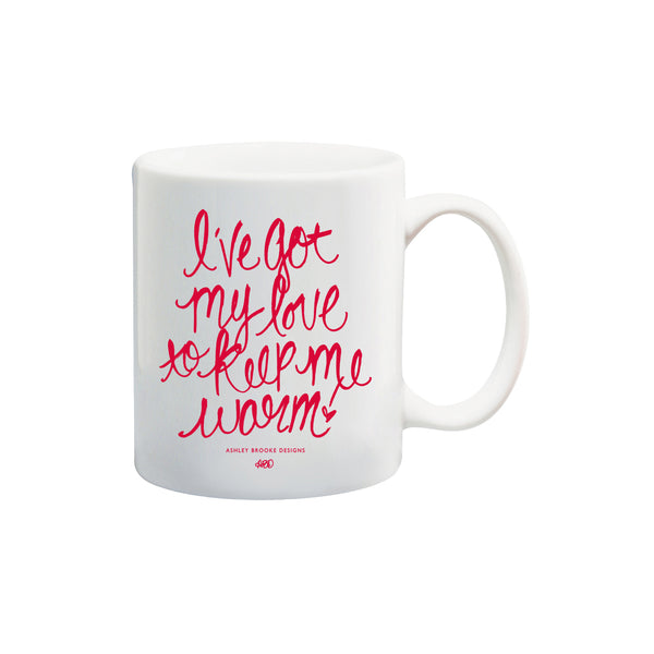 I've Got My Love Coffee Mug-Mugs-Ashley Brooke Designs
